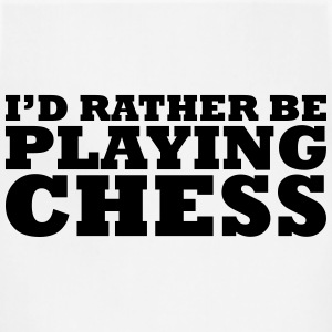 id rather be playing chess t-shirt - Adjustable Apron