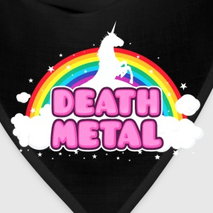 DEATH METAL! (Funny Unicorn / Rainbow Mosh Parody Tanks - Bandana