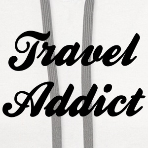 travel addict t-shirt - Contrast Hoodie