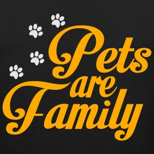 Pets Are Family Women's T-Shirts - Men's Premium Tank