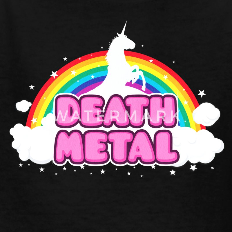 DEATH METAL! (Funny Unicorn / Rainbow Mosh Parody Kids' Shirts - Kids' T-Shirt