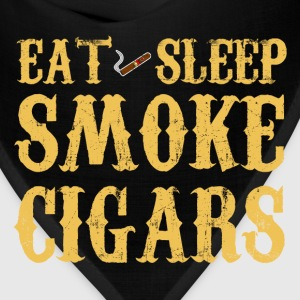 Eat Sleep Smoke Cigars Long Sleeve Shirts - Bandana
