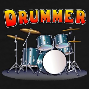 Drummer's Drum Set Mug - Men's Premium T-Shirt