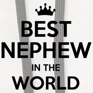 best nephew in the world t-shirt - Contrast Hoodie