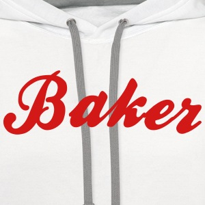 baker cool curved logo t-shirt - Contrast Hoodie