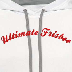 ultimate frisbee cool curved logo t-shirt - Contrast Hoodie