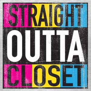 Straight Outta Closet Pansexual LGBT Pride Grunge Tank Tops - Men's T-Shirt