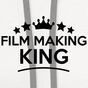 film making king stars t-shirt - Contrast Hoodie