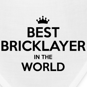 best bricklayer in the world t-shirt - Bandana