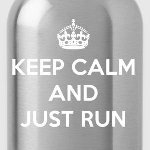 Keep Calm and Just Run - Water Bottle