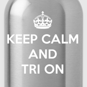 Keep Calm and Tri On - Water Bottle