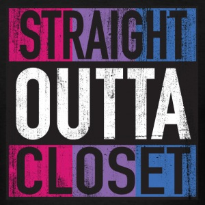 Straight Outta Closet Parody Bisexual Pride LGBT Tank Tops - Men's T-Shirt