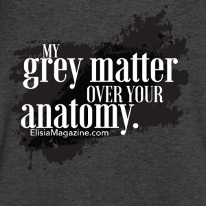 My Grey Matter Over Your Anatomy Long Sleeve Shirts - Men's V-Neck T-Shirt by Canvas