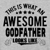THIS IS WHAT AN AWESOME GODFATHER LOOKS LIKE T-Shirts - Baseball T-Shirt
