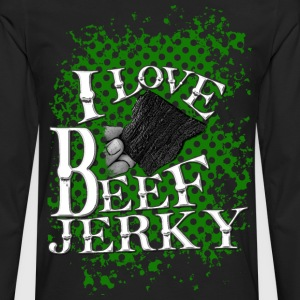 Everyone loves beef jerky, black shirt stylized fo - Men's Premium Long Sleeve T-Shirt