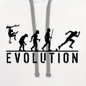 Evolution Sprinting T Shirt - Contrast Hoodie