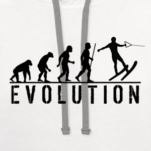 Water Skiing Evolution T Shirt - Contrast Hoodie