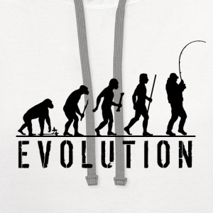 Evolution Fishing T Shirt - Contrast Hoodie