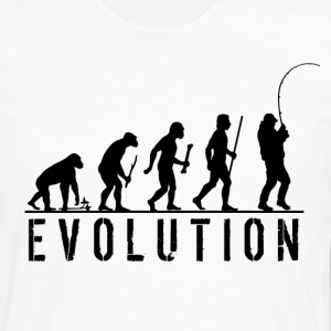 Evolution Fishing T Shirt - Men's Premium Long Sleeve T-Shirt
