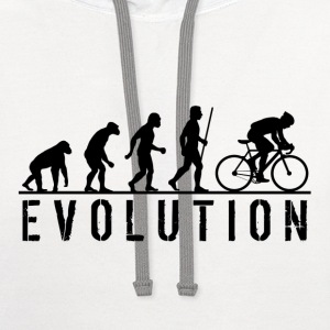 Evolution Cycling T Shirt - Contrast Hoodie