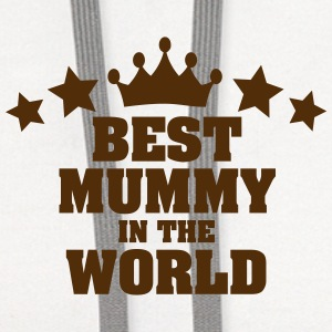 best mummy in the world stars t-shirt - Contrast Hoodie