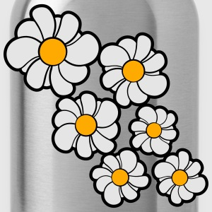 flower pattern design yellow white daisy buttercup T-Shirts - Water Bottle