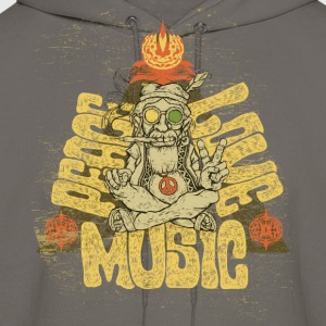 Peace, Love, Music - Men's Hoodie