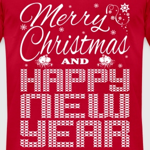 Merry Christmas Happy New Year Long Sleeve Shirts - Men's T-Shirt by American Apparel
