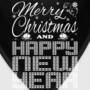 Merry Christmas Happy New Year Women's T-Shirts - Bandana