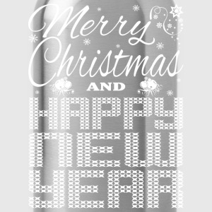 Merry Christmas Happy New Year Kids' Shirts - Water Bottle