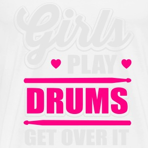 girls play drums, get over it Tanks - Men's Premium T-Shirt