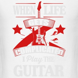 When life gets complicated play guitar Tanks - Men's T-Shirt
