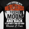 I Love Someone With Multiple Sclerosis To The Moon - Men's T-Shirt