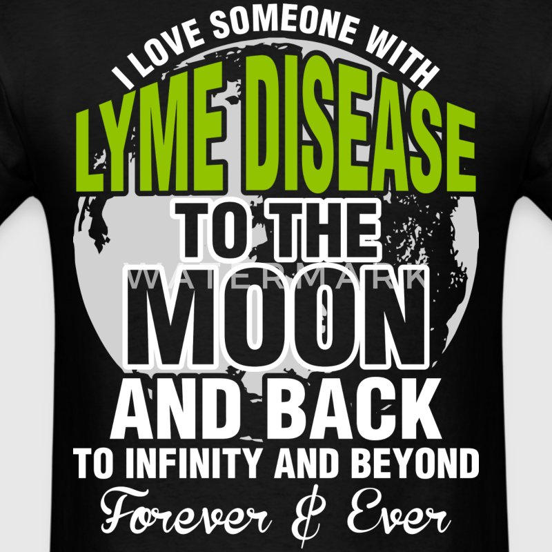 I Love Someone With Lyme Disease To The Moon - Men's T-Shirt