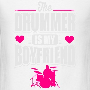 The drummer is my boyfriend Tanks - Men's T-Shirt