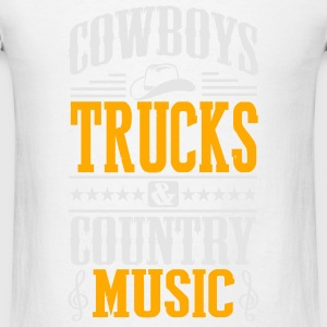 cowboy trucks & country music Tanks - Men's T-Shirt