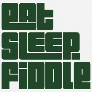 eat sleep fiddle text t-shirt - Men's Premium Tank