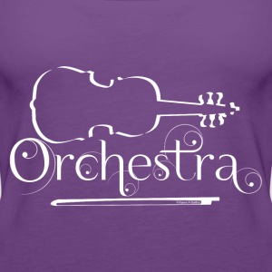 Orchestra White Violin Outline Women's T-Shirts - Women's Premium Tank Top
