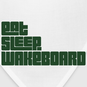 eat sleep wakeboard text t-shirt - Bandana