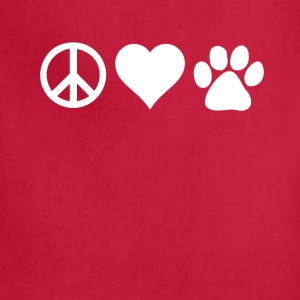 Peace Love Paws Veterinarian T-shirt T-Shirts - Adjustable Apron