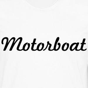 motorboat script logo t-shirt - Men's Premium Long Sleeve T-Shirt