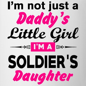 Im Not A Daddy Little Girl Im A Soldier Daughter Long Sleeve Shirts - Coffee/Tea Mug