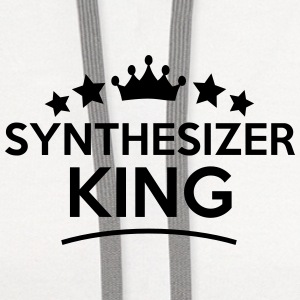 synthesizer king stars t-shirt - Contrast Hoodie