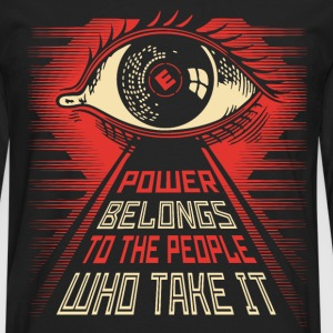 Mr Robot illuminati eye obey style T-Shirts - Men's Premium Long Sleeve T-Shirt