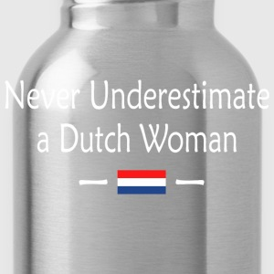 Never Underestimate A Dutch Woman - Water Bottle