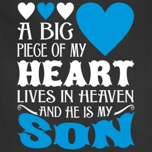 My Heart Lives In Heaven And He Is My Son - Adjustable Apron