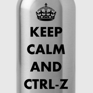 Keep calm and ctrl-z - Water Bottle