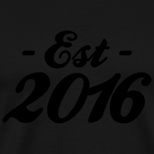 established 2016 Baby Bodysuits - Men's Premium T-Shirt