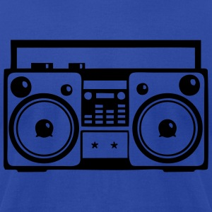 boombox - Men's T-Shirt by American Apparel