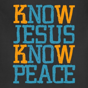 Jesus Know Peace, cool christian shirts - Adjustable Apron